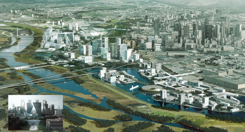与水共生/达拉斯滨河空间规划